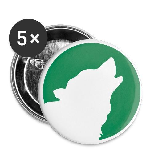 Wolfsmond - Buttons groß 56 mm (5er Pack)