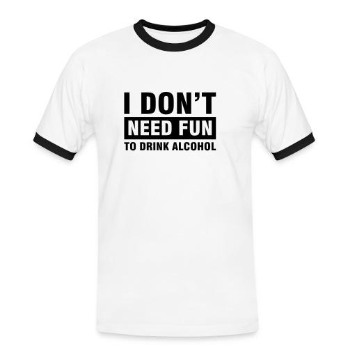 NeedFun - Männer Kontrast-T-Shirt