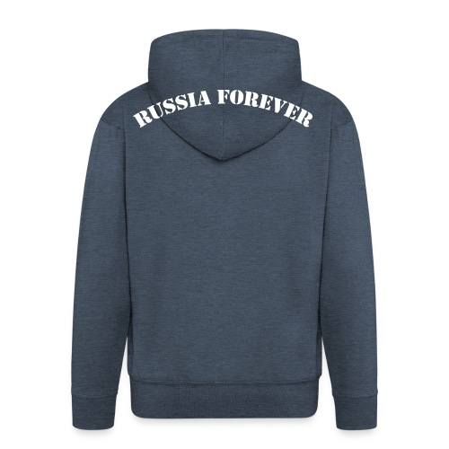 Russia forever !! Flockdruck !! - Männer Premium Kapuzenjacke