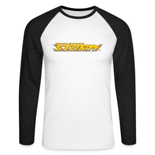 Longsleeve mit Storm-Schriftzug - Männer Baseballshirt langarm