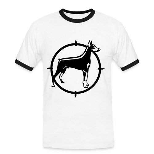 DR little dog - Männer Kontrast-T-Shirt