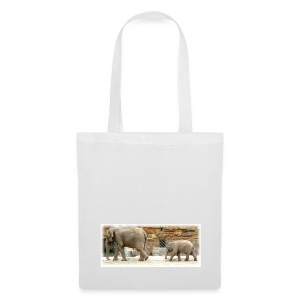 Mother & Baby Elephant Tote Bag - Tote Bag