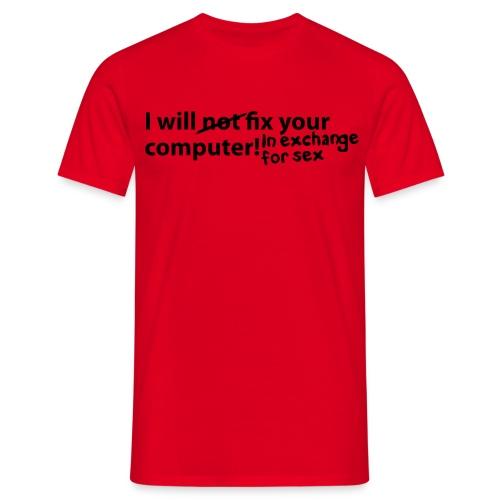 Fix Computer - Männer T-Shirt