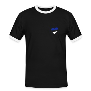 Men's Heart Slim Contrast T-Shirt - Men's Ringer Shirt