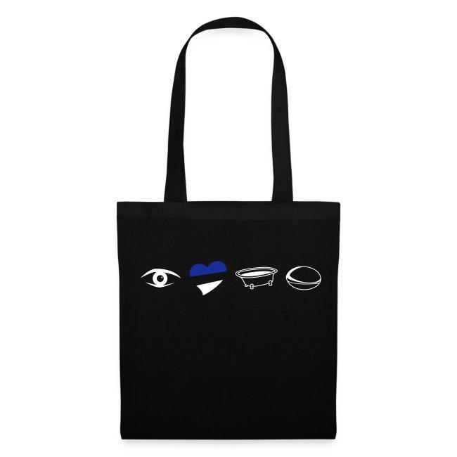 Eye Heart Bath Tote Bag