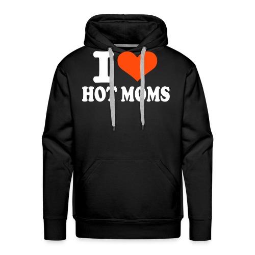 Hot moms, hettegenser. - Premium hettegenser for menn