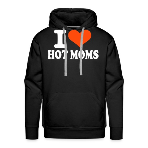 Hot moms, hettegenser. - Premium hettegenser for menn