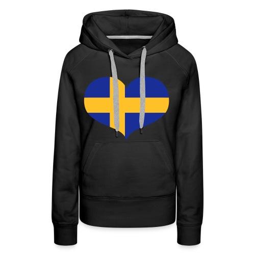 Heart Sweden, hettegenser. - Premium hettegenser for kvinner