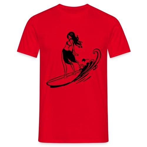 Surfer Girl (Red) - Men's T-Shirt