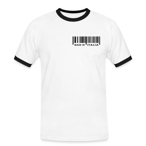 Made in Italia  (weiss) - Men - Männer Kontrast-T-Shirt