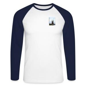 Windmill Raglan Longsleeve T Shirt - Men's Long Sleeve Baseball T-Shirt