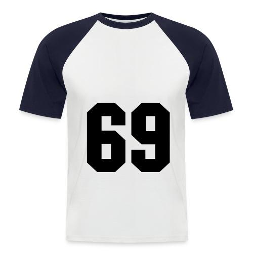 69 - Miesten lyhythihainen baseballpaita
