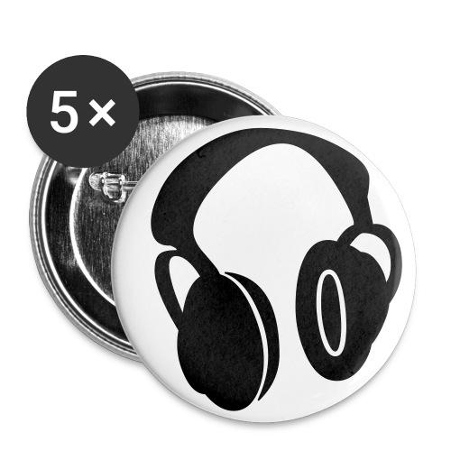 badge casque musique - Badge petit 25 mm
