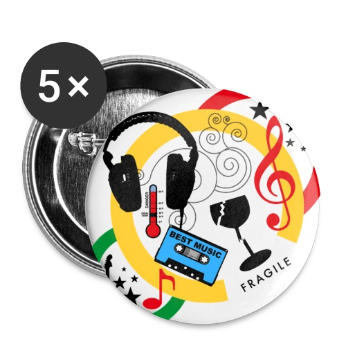 badge colori musique - Badge petit 25 mm