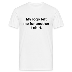 My logo left me for another t-shirt. - Men's T-Shirt