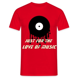 For the love of music - Men's T-Shirt