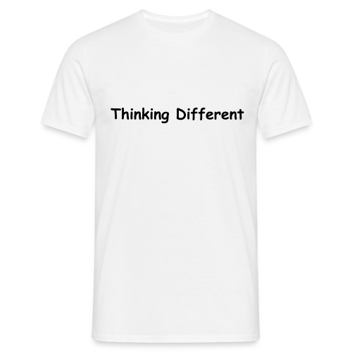 Thinking different - I don't use a Mac - Men's T-Shirt