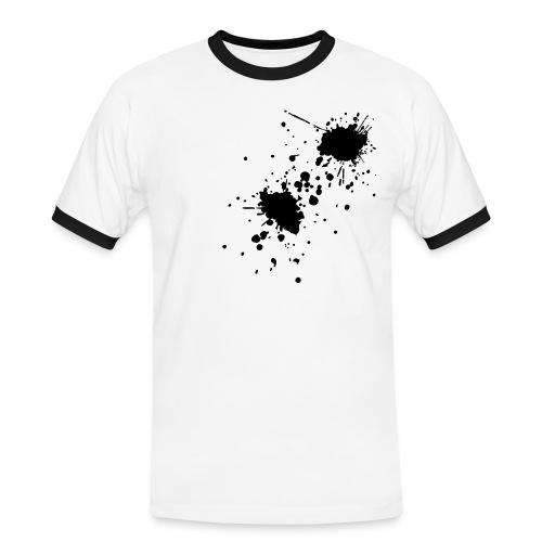 'Black Blood Splat' Printed Tee - Men's Ringer Shirt