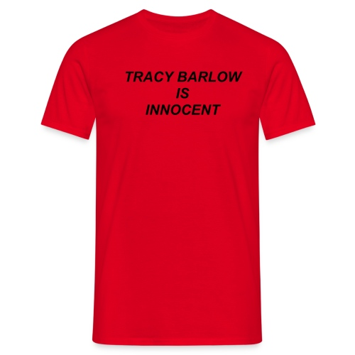 Tracy Innocent / Red - Men's T-Shirt