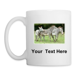 Zebras mug with custom text - Mug