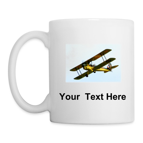 RC Tiger Moth Aeroplane mug with custom text - Mug