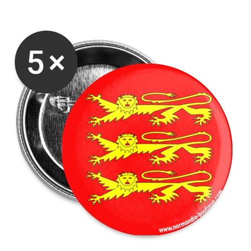 5 Badges trois Léopards - Lot de 5 moyens badges (32 mm)