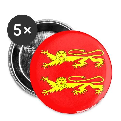 5 badges deux Léopards - Lot de 5 moyens badges (32 mm)