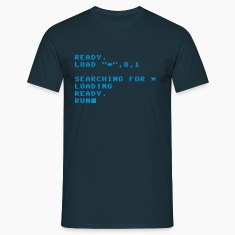 Navy C64 Loading Screen Men's Tees (short-sleeved)