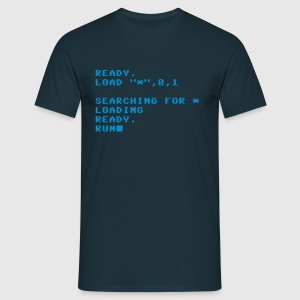C64 Loading Screen T-Shirts (Kurzarm) Navy - Männer T-Shirt