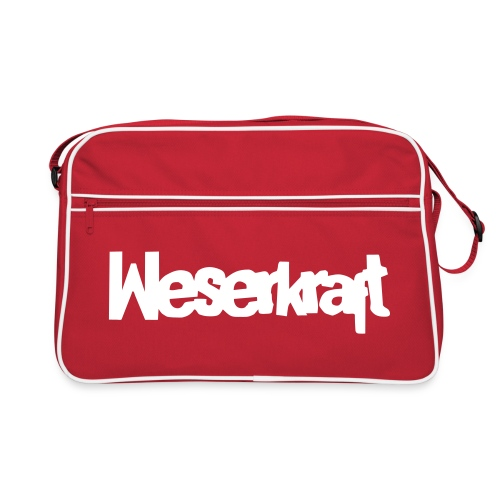 Weserkraft - Tasche Small Red / White - Retro Tasche