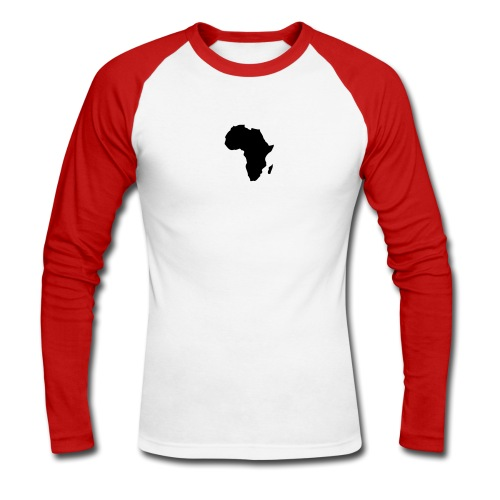 Men's long sleeve top with Africa detail on reverse - Men's Long Sleeve Baseball T-Shirt