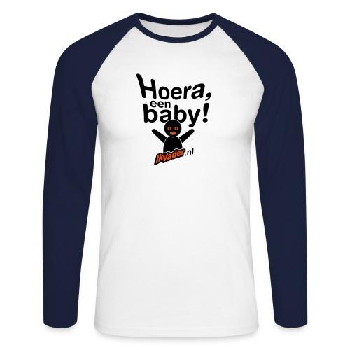 Longsleeve: Hoera - Mannen baseballshirt lange mouw