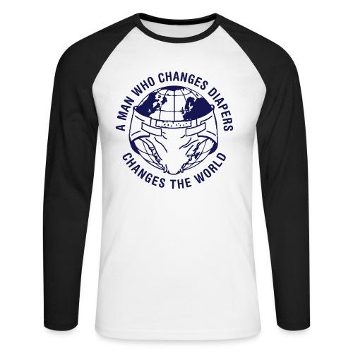 Longsleeve: Changing Diapers - Mannen baseballshirt lange mouw