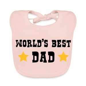 World's Best Dad Bib - Baby Organic Bib