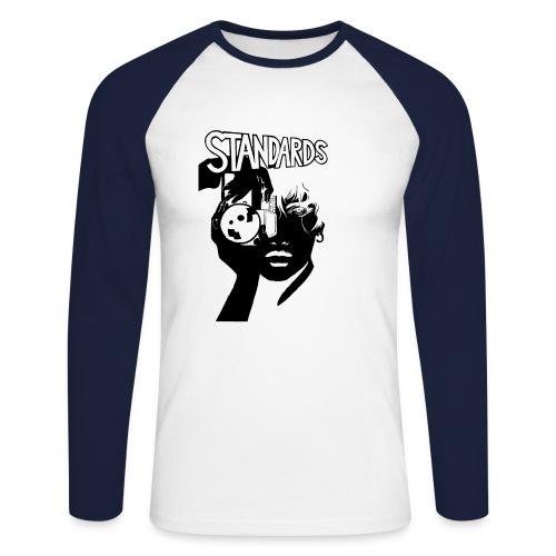 College LongSleeve Picture - Männer Baseballshirt langarm