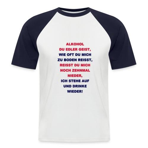 Alkohol - Männer Baseball-T-Shirt