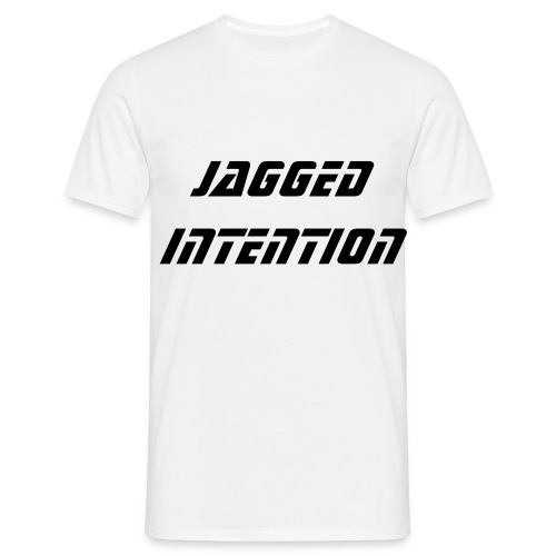JAGGED INTENTION WHITE T - Men's T-Shirt