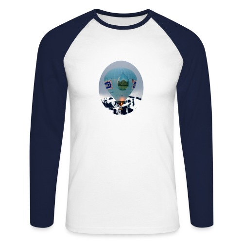 Chateau-d'oex balloon Raglan Longsleeve shirt - Men's Long Sleeve Baseball T-Shirt