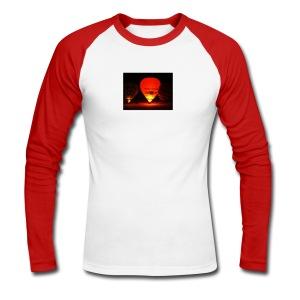 Chateau-d'oex night balloon Raglan Longsleeve shirt - Men's Long Sleeve Baseball T-Shirt