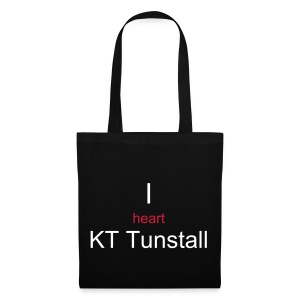 I heart KT Tunstall tote bag Black - Tote Bag