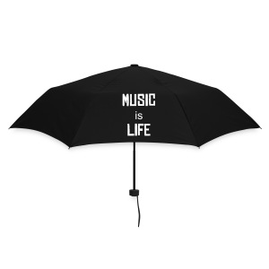 Music Is Life umbrella Black - Umbrella (small)