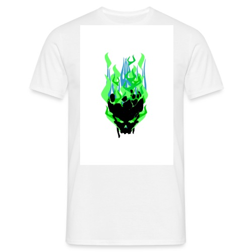 greenflameskull - Men's T-Shirt