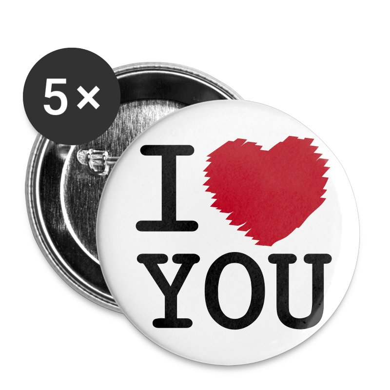 I Love You - Buttons klein 25 mm