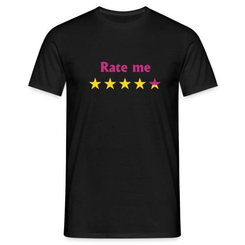 rate me - Mannen T-shirt