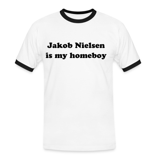 Jakob Nielsen is my homeboy - Men's Ringer Shirt