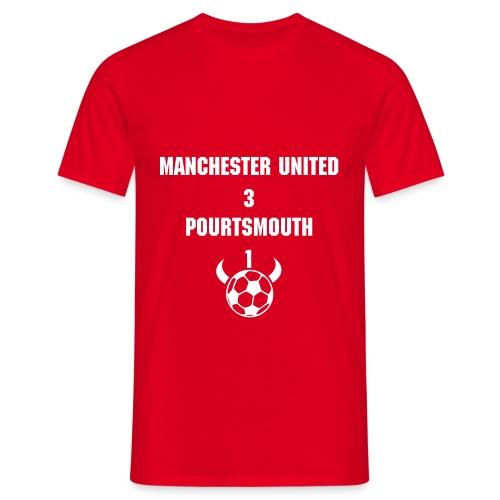 Manchester Utd  community shield shirt - Men's T-Shirt