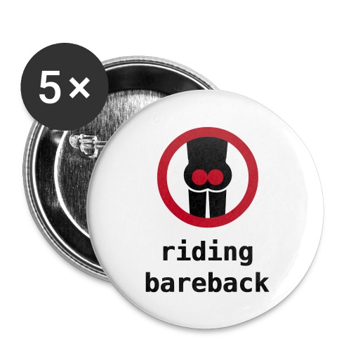 bareback badge - Buttons large 56 mm