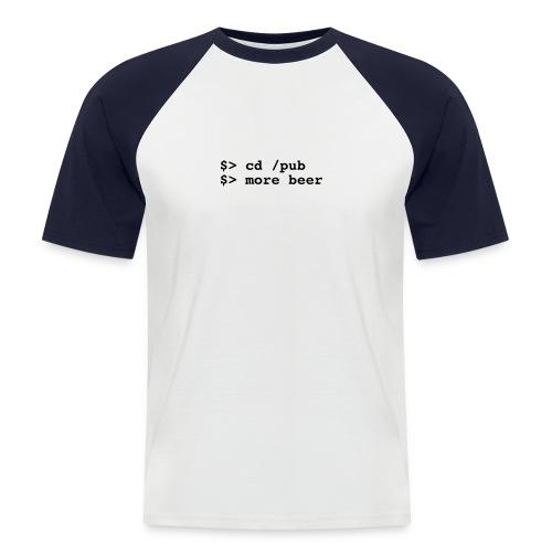 more beer t-shirt - Männer Baseball-T-Shirt
