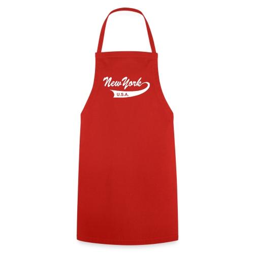 Kochschürze NEW YORK USA rot - Kochschürze