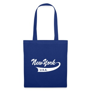 Stofftasche NEW YORK USA royalblau - Stoffbeutel